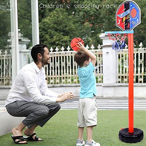 Rainai Einstellbare Kinder Basketballkorb und Standballpumpe Rückenbrett Set Indoor- und Outdoor-Fun Ball Spielzeug-Aktivitäten Kinder Sport