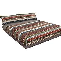 Juego de sábanas estampado Étnico MALU (para cama de 90x190/200)