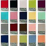 Jersey Spannbettlaken Spannbetttuch 100% Baumwolle Bettlaken in 5 Größen und vielen Farben Öko-Tex (60x120 - 70x140 cm, Aubergine)