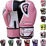 Guantes de boxeo Sparring caza Farabi Pro Bolsa de boxeo enfoque Pad guantes, color Rosa - rosa, tamaño 283 g
