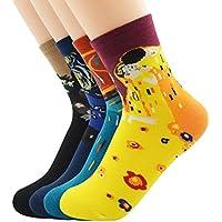 Zando moda cool art lunghi famoso dipinto di collezione calzini di cotone