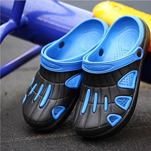 Scarpe da buco da giardino da uomo Ciabatte infradito All'aperto Tempo libero sandali Casa Pantofole da bagno Estate Scarpe da spiaggia Baotou Acquista 2 prendi 1 gratis blue