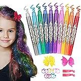 Hair Chalk for Girls, ETEREAUTY Temporary Hair Chalk Pens 10 Colours, Washable Hair