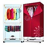 Wäscheständer Doppelschicht, 1200 W, Multifunktions-Schrank, mit Heizkörper, kann zusammengeklappt werden, elektrisch, tragbar, hohe Kapazität, schnelltrocknend ++