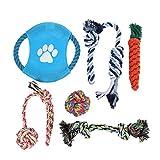 WollfuL - Juego de 6 juguetes de cuerda para perro, tamaño mediano y pequeño