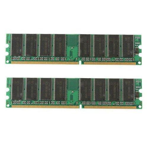 Desktop Speicher - TOOGOO (R) 2GB (2x1GB) DDR 400MHz PC3200 PC3200U Non-ECC Desktop PC DIMM Speicher RAM 184-Pin