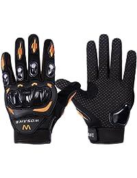 LianLe-Guantes para Montaña ,motocicleta,bike Bicicleta Ciclismo bici,moto,motocicleta, resistir rompedero, engrosadas ,usan guantes ,amortiguación,color anaranjado/verdor,M/L/XL