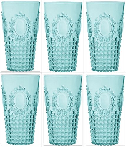 BACI Milano Baroque & Rock Six (6) - Piece Acryl Transparent Champagner Flute Set 24 oz Tumber Aqua - Klar, Champagner-finish