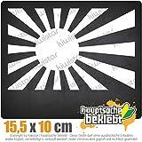 Japan Kriegsmarine 14 x 9 cm In 15 Farben - Neon + Chrom! JDM Sticker Aufkleber