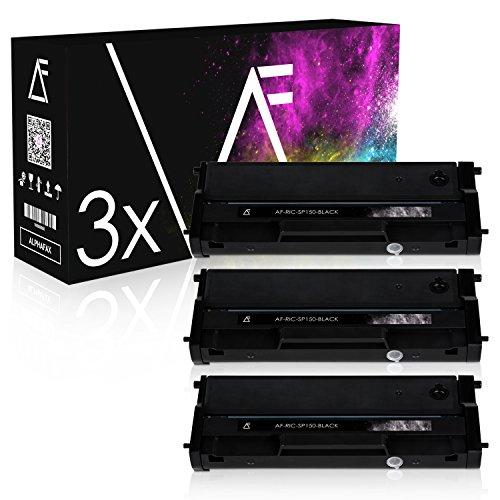 Preisvergleich Produktbild AF 3 Toner für Ricoh SP150 408010 Black, je 1500 Seiten, kompatibel zu TYPE150HC