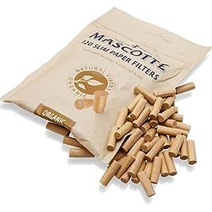Mascotte Bio slim Filtres Sac Papier de 120x 5(Total 600Filtres) par Trendz