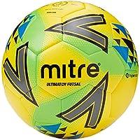 Mitre Ultimatch - Balón de fútbol Sala, Talla 4, Color Amarillo y Verde