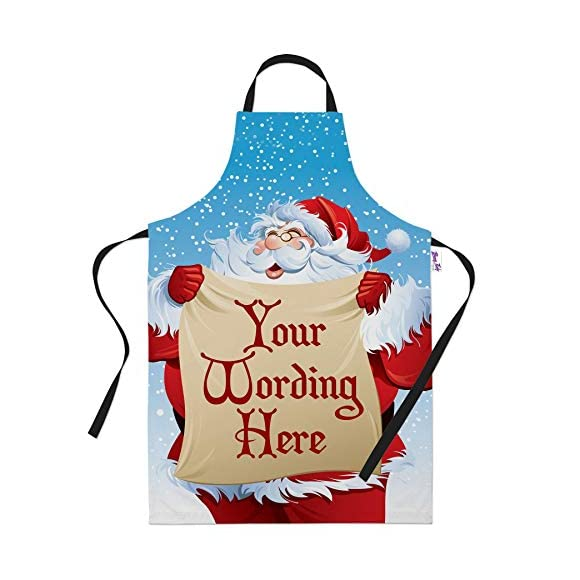 Personalised Santa Christmas Apron for Women & Men - Add your own Text