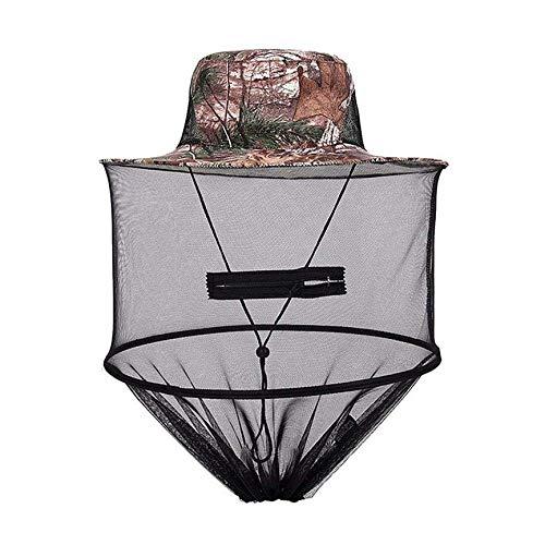Peanutaod Moskito-Kappe Midge Fly Bug Insect Bee Hut mit Net Mesh Kopf Gesichtsschutz Angeln Hut für Outdoor Camping Wandern Jagd