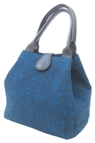 Chantam, Borsa a mano donna (Peacock Harris Tweed)
