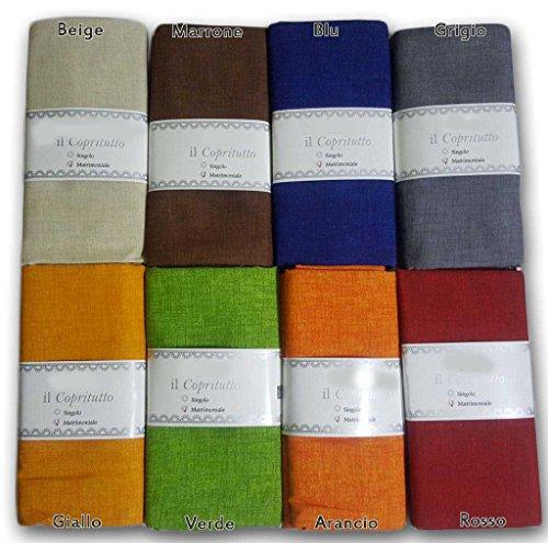 Telo arredo copritutto in 2 misure tipo panama - gran foulard multiuso telo tuttofare copridivano copripoltrona - - 170x280 cm giallo