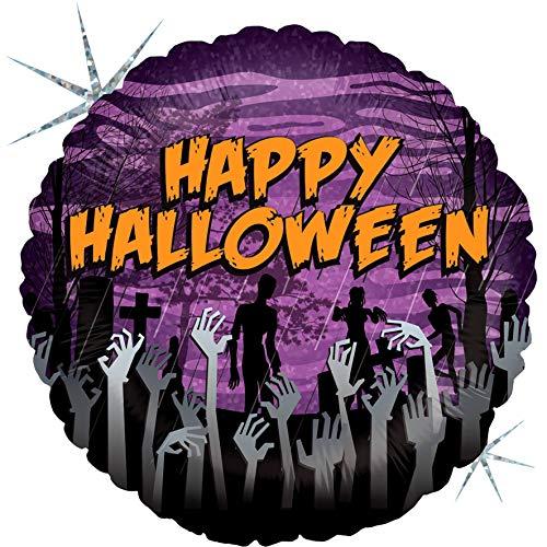 (Bettiburi 36059H-P Holografischer Ballon Zombie Halloween, Einzelpack, Länge 45,7 cm, mehrfarbig, Einheitsgröße)