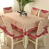 vbimlxft - Mediterrane Tuch rechteckigen quadratischen Gitter Tischdecke staubdicht Tischabdeckung für Küche Dinning Tabletop Dekoration Tischdecke (Farbe : B, größe : 130x180cm)