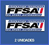 Ecoshirt 0Z-XN6N-YMWY Stickers Ffsa Dp456 Autocollants Autocollants pour Voiture Rally Rallies
