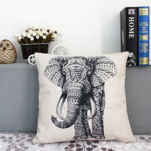 Fundas de almohada, Woopower 18* 45manta de elefante lino funda para cojín cintura funda para hogar coche café decoración Navidad regalo