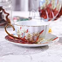 European Cup/Set di tazzina da caffè espresso/ red bone China
