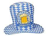 Bayrischer Oktoberfest Hut Partyhut in Bayrischem Flaggen Muster Blau Weiß
