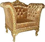 Casa Padrino Barock Lounge Sessel 70 x 70 x H. 102 cm - Barock Wohnzimmer Sessel