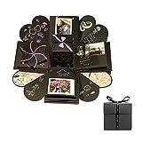 PROKTH Explosion Box Sammelalbum DIY Fotoalbum Kreative Exploding Geschenk Box Speicher für Geburtstag Jubiläum Valentine Hochzeitsgeschenk