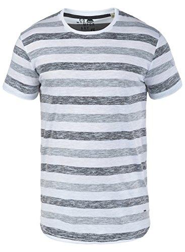!Solid Tet Herren T-Shirt Kurzarm Shirt mit Streifen und Rundhalsausschnitt, Größe:L, Farbe:Dark Grey (2890) -