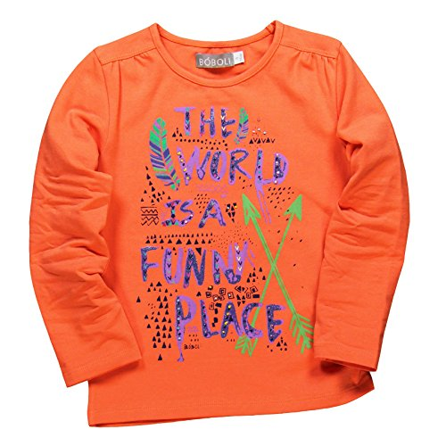 boboli Baby-Mädchen T-Shirt Camiseta Manga Larga , orange, größe 10 Jahre