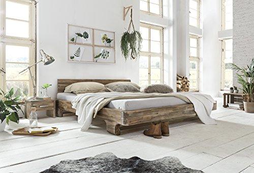 Woodkings® Bett 180x200 Mayfield Doppelbett Akazie Rustic Schlafzimmer Massivholz Design Doppelbett Massive Naturmöbel Echtholzmöbel günstig