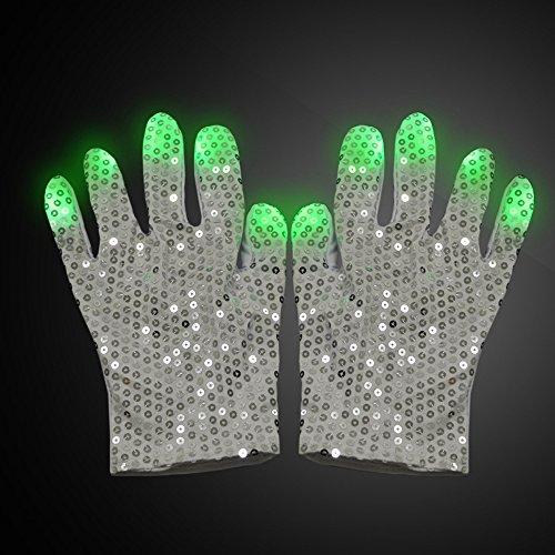 zhuorui LED Raver Bergsteigen Handschuhe - Kleid Show Boy Spielzeug Jungen Mädchen Geburtstagsfeier (Michael Jackson (Für Nägel Kostüm Skelett)