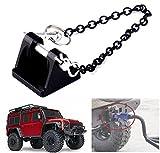 1:10 RC Rock Crawler Grillete de remolque de metal Gancho de remolque para Axial SCX10 90046 TAMIYA...