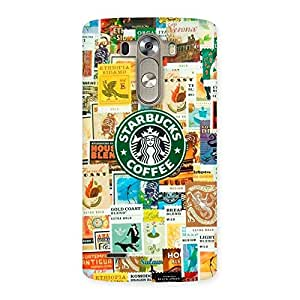 Delighted Coffee SB Multicolor Back Case Cover for LG G3