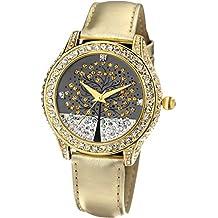 Time100 Orologio donna pelle albero della vita, colore oro # W50022L.02A