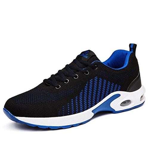 Scarpe sportive da uomo traspiranti traspiranti scarpe da corsa traspiranti black blue