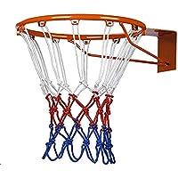 Ndier Red de Baloncesto,Red de Baloncesto de poliéster(Tricolor),Red de Baloncesto para niños(2 Unidades)