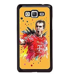 Fiobs High Glossy Designer Phone Back Case Cover Samsung Galaxy Grand Prime :: Samsung Galaxy Grand Prime Duos :: Samsung Galaxy Grand Prime G530F G530Fz G530Y G530H G530Fz/Ds ( Football Fan Art Love For Game )