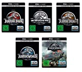 Jurassic Park 1+2+3 (4k Ultra-HD) & Jurassic World 1+2 (4k Ultra-HD) im Set - Deutsche Originalware [5 Blu-rays 4k + 5 Blu-rays 2D]
