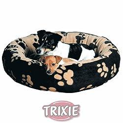Trixie 37682 Sammy Kuschelbett, ø 70 cm, schwarz/beige