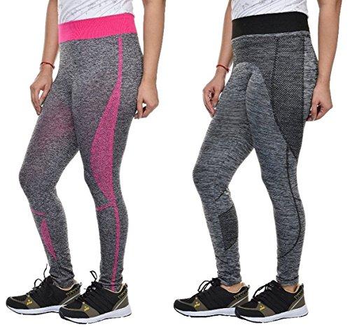 Golazo Girl's Stretchable High Waist Compression Yoga Fitness Tummy Tuck Sports and...