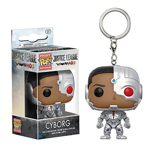 DC DC- 13793 Llavero de Vinilo Cyborg,  colección Justice League,  Funko 13793