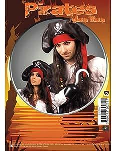 Perruque chapeau pirate homme