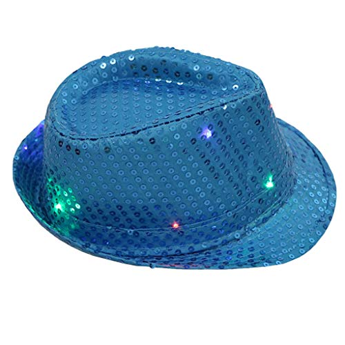 Yvelands Party Hut Blinklicht leuchten bunten Pailletten Unisex -