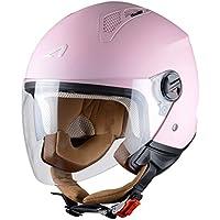 Astone Helmets Mini Jet Army Casco Jet, color Rosa Claro, talla S