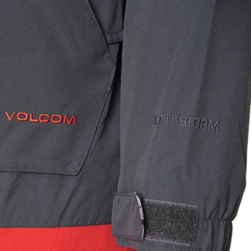 Volcom, Giacca da snowboard Uomo Isosceles Nero (Charcoal)