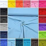 MAGAM-Stoffe ''Micha'' Interlock Jersey Uni   20 Farben   100% Baumwolle Öko-Tex Qualität   Meterware ab 50cm (15. Altblau)