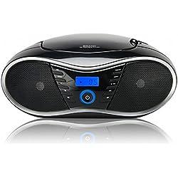 BigBen Interactive CD58 Radio/Radio-réveil Lecteur CD MP3 Port USB