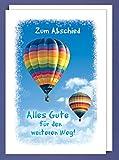 AvanCarte GmbH Riesen Abschied Grußkarte Karte Ruhestand Ballonreise A4