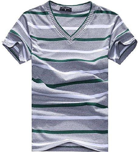 mens-fashion-striped-v-neck-short-sleeve-tee-shirt-v05-xxl
